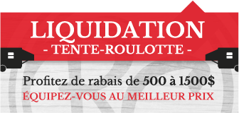 Liquidation tente-roulotte québec